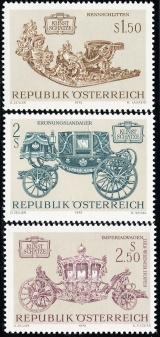 Rakousko - čistá - č. 1406-1408