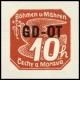 Protektorát - Známka pro obchodní tiskopisy - Přetisk GD - OT - č. OT1 - čistý