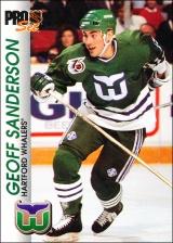 Hokejové karty Pro Set 1992-93 - Geoff Sanderson - 63