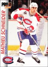 Hokejové karty Pro Set 1992-93 - Mathieu Schneider - 91