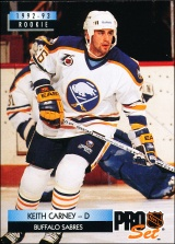 Hokejové karty Pro Set 1992-93 - Keith Carney - 223