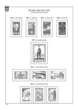Sársko (Saargebiet 1920-1935 a Saarland 1947-1959), A4, papír 160 g (41 listů)  - bez obalů
