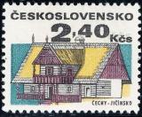 Lidová architektura - 2,40 Kčs - č. 1878 - II. typ - stínované Kčs - čistá
