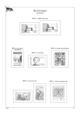 Albové listy POMfila SR - ročník 2015, A4, papír 160 g, rozšířená verze - (19), vč. zesílených obalů