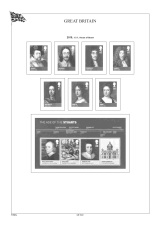 Albové listy A4 POMfila Velká Británie 2010-2012, (69 listů), vč. zesílených obalů, papír 160gr.