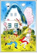 Alena Ladová - Velikonoční pohlednice - 1975
