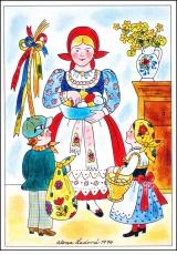Alena Ladová - Velikonoční pohlednice - 1974