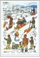 Josef Lada - Vánoce - pohlednice - Zimní radovánky 1953