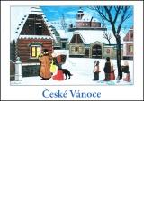 Josef Lada - Vánoce - pohlednice - Slouha vytrubuje 1952