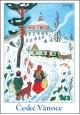 Josef Lada - Vánoce - pohlednice - S koledou 1955