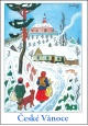 Josef Lada - V�noce - pohlednice - S koledou 1955