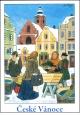 Josef Lada - V�noce - pohlednice - V�no�n� kapr 1955