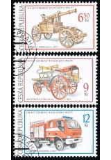 Technické památky - hasičská technika - razítkovaná - č. 375-377