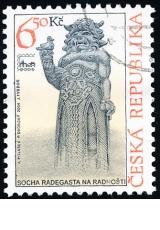 Evropská výstava Brno 2005 - socha Radegasta na Radhošti - razítkovaná - č. 403