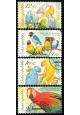 Chovatelství - papoušci - razítkovaná - č. 409-412