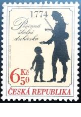 Zavedení povinné školní docházky v našich zemích - 1774 - razítkovaná - č. 413
