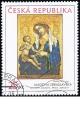 Umění doby Karla IV. - Madona zbraslavská - č. 462 - razítkovaná