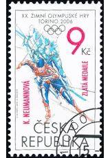 XX. Zimní olympijské hry Turín 2006 - s přítiskem - č. 468 - razítkovaná