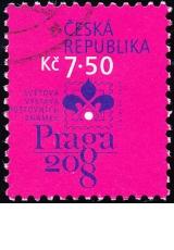 Světová výstava poštovních známek PRAGA 2008 - č. 498 - razítkovaná