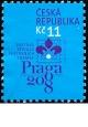 Světová výstava poštovních známek PRAGA 2008 - logo výstavy  - č. 514 - razítkovaná