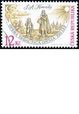 J. A. Komenský - č. 523 - razítkovaná