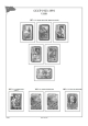 Albové listy A4 POMfila SSSR  - 1957-1960 - nezasklené (59 listů), vč.zesílených obalů, papír 160gr.