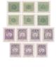 Doplatní - ocelotisk - čisté poštovní známky - č. D79A-D91A