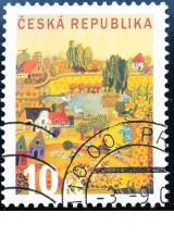 Letní den - razítkovaná poštovní známka - č. 573