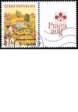 Letní den - kupon pravý K3 - PRAGA 2008 - razítkovaný - č. 573