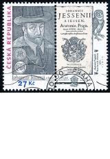 Jan Jessenius - razítkovaná známka s kuponem - č. 893