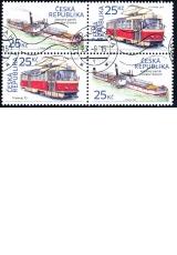 Historické dopravní prostředky - razítkované známky - č. 861-862 - čtyřblok