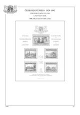 Albové listy A4 POMfila Československo – Exilové aršíky 1939-1945 nezasklené, (18 listů), vč. zesílených euroo