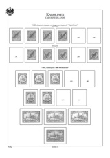 Albové listy A4 POMfila - Německé kolonie a pošty vzahraničí 1884-1919 - nezasklené, (43 listů), vč. zesílený