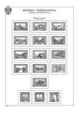 Albové listy A4 POMfila - Bosna a Hercegovina 1879-1918 - nezasklené, (15 listů), vč. zesílených euroobalů, pa