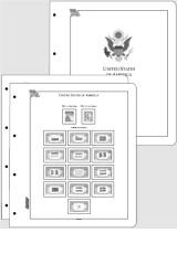 Albové listy CONTOUR-S  USA 1847-1944 nezasklené, (77 listů), papír 250gr.