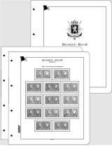 Albové listy CONTOUR-S  Belgie 1850-1944 nezasklené, (78 listů), papír 250gr.