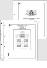 Albové listy CONTOUR-S  Československo – Exilové aršíky 1939-1945 nezasklené, (18 listů), papír 250gr.