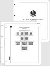 Albové listy CONTOUR-S - Německé kolonie a pošty vzahraničí 1884-1919 nezasklené, (43 listů), papír 250gr.