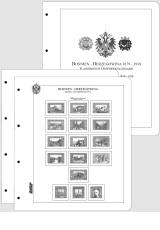 Albové listy CONTOUR-S - Bosna a Hercegovina 1879-1918 -  nezasklené, (15 listů), papír 250gr.