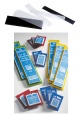 Hawidky - SF ochranné kapsy na známky - bílé  - průhledné - 48 x 217 mm - 325 863